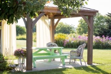 Decora il tuo giardino con il kit per gazebo in legno di Adveco